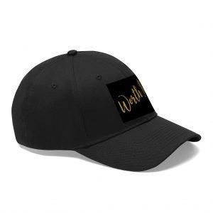 "Unisex Twill Hat (""Worth It"" – Black)"